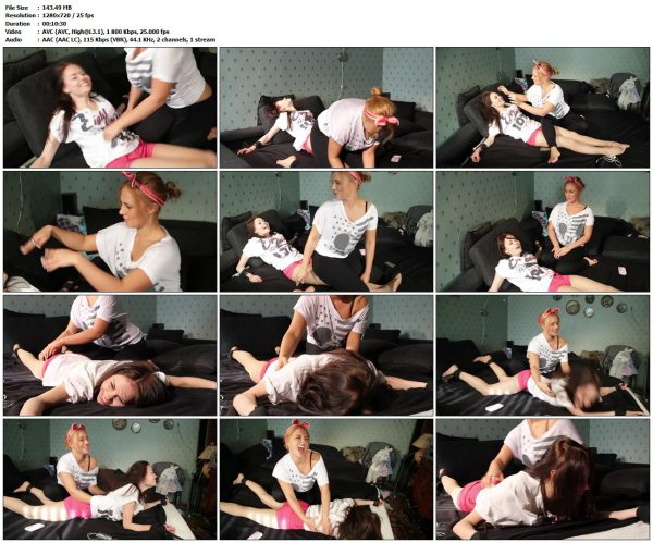 TickleTherapy - Roommates Masha Fox and VikaTickleTherapy